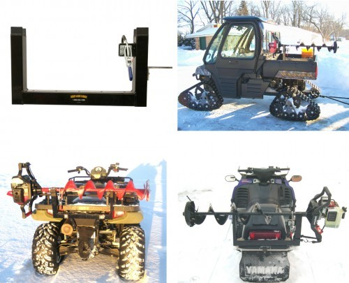 Ice Auger Mount for Four Wheeler, Snowmobile & UTV