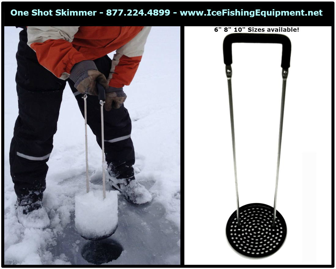 One Shot Ice Skimmer Pro Edition – Ice Fishing Scoop
